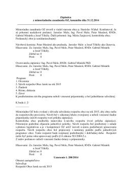 Zápisnica z mimoriadneho zasadnutia OZ, konaného dňa