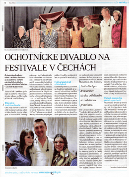 Naši divadelníci na festivale v Bučoviciach (CZ)