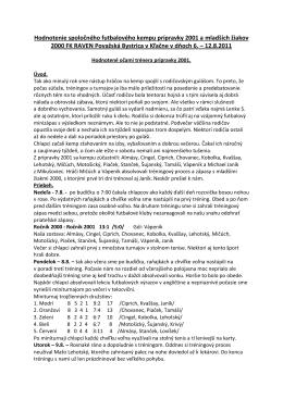vyhodnotenie - FK Raven Považská Bystrica 2001