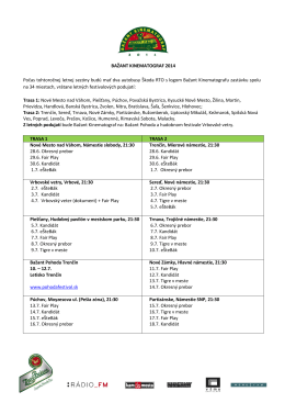 Program Bažant Kinematograf 2014