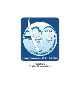Partizánske 27. júla – 10. augusta 2013