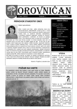 Orovničan 1/2012