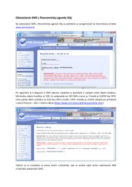Odosielanie mailov a SMS - MK-soft