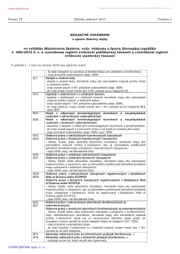 Redakčné oznámenie - Evidencia publikačnej činnosti TUKE