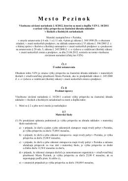 VZN mesta Pezinok, č. 8/2012, ktorým sa mení a