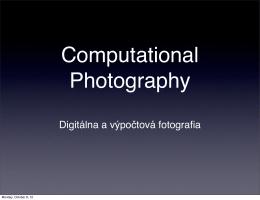 Digitálna fotografia: Základné princípy optiky a svetla