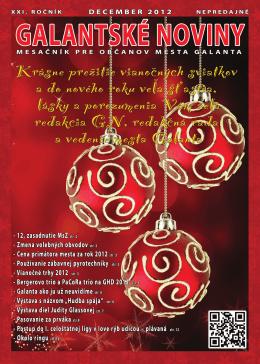 Vianočné trhy 2012 - galantskenoviny.sk
