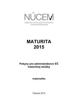 Maturita 2015/Pokyny pre administrátorov EČ MS