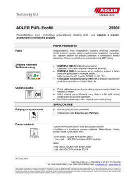 ADLER PUR- Ecofill 25501