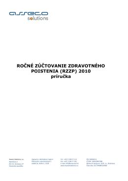 príručku Ročného zúčtovania zdravotného poistenia za rok 2010
