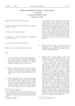 Smernica Európskeho parlamentu a Rady 2010/31/EÚ z 19. mája