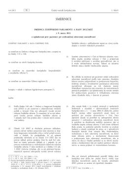 Smernica Európskeho parlamentu a Rady 2011/24/EÚ z 9. marca