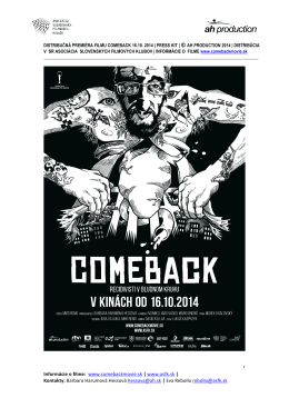 COMEBACK press kit