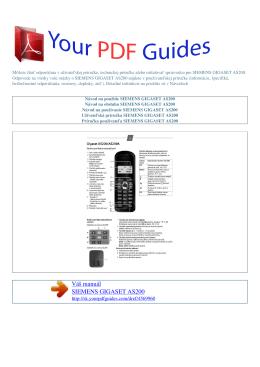 gigaset as200 - Príručka používateľa