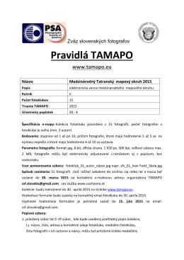 Pravidlá TAMAPO