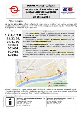 Oprava zastávok - Dopravný podnik mesta Banská Bystrica, as