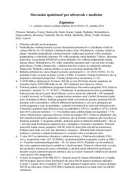 Zápisnica z rokovania výboru SSUM