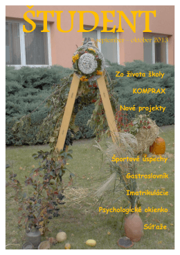 september – október 2013 Zo života školy KOMPRAX