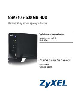 NSA310 + 500 GB HDD
