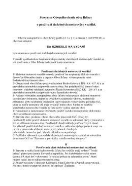 Smernica OU o používaní služobných motorových vozidiel.