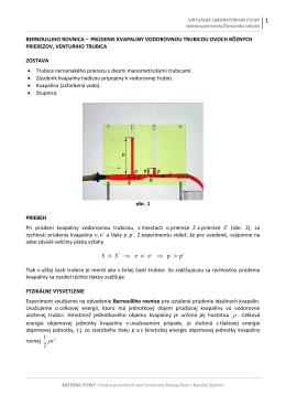 Priebeh experimentu a fyzikálne vysvetlenie