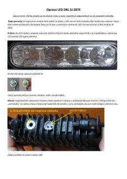 Oprava LED DRL SJ-287E