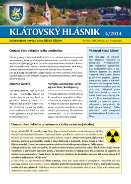 Hlásnik 07/2014