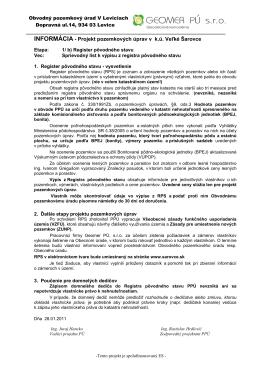 INFORMÁCIA - Projekt pozemkových úprav v k.ú. Veľké Šarovce