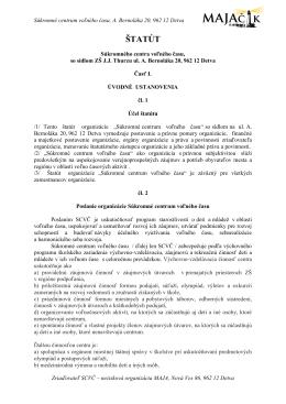 Štatút SCVČ - Súkromné centrum voľného času