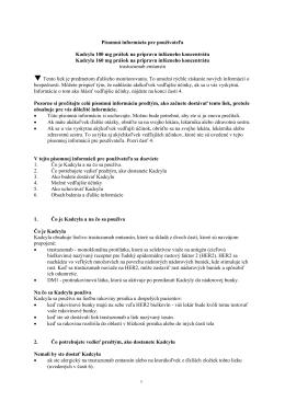 Písomná informácia pre používateľa Kadcyla 100 mg prášok na