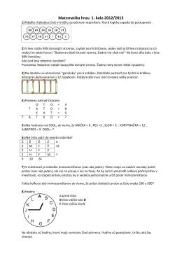 Matematika hrou 1. kolo 2012/2013