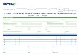 oznámenie zamestnávateľa o poistencoch pri zmene platiteľa