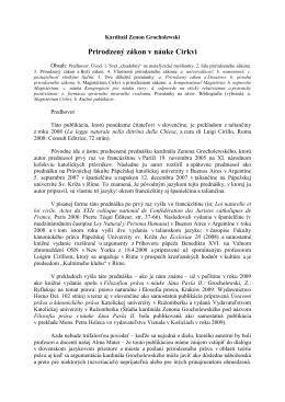 Zenon kardinál GROCHOLEWSKI, Prirodzený zákon