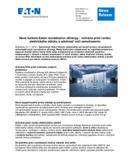 Nové funkcie Eaton rozvádzačov xEnergy – ochrana