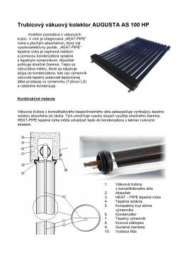 Trubicový vákuový kolektor AUGUSTA AS 100 HP