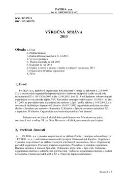 PATRIA n.o. - 2013.pdf - Drienovecké kúpele, Drienovec
