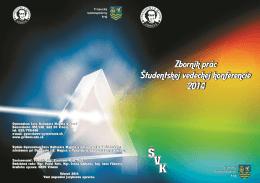 Zborník prác Študentskej vedeckej konferencie 2014