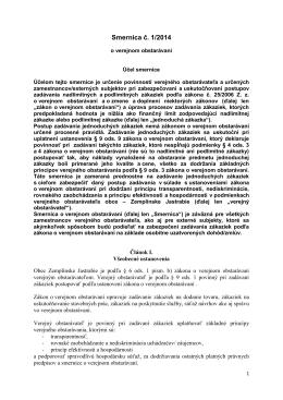 Smernica o verejnom obstarávaní