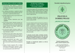 Bezpečný podnik - Národný inšpektorát práce