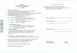 Zaväzná prihláška a propozície - Mestské kultúrne stredisko