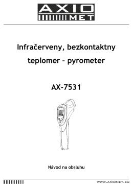 Infračerveny, bezkontaktny teplomer – pyrometer AX