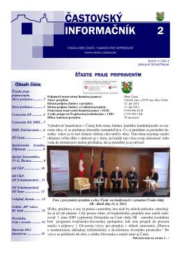 Informačník č. 2/2012
