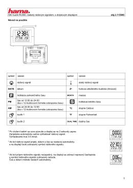 /SK/ budík RC800, riadený rádiovým signálom, s dotykovým