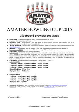 propozície - TT Bowling