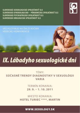 IX. Lábadyho sexuologické dni - KONGRES