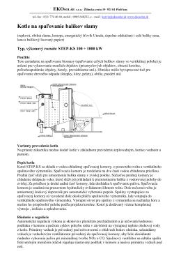 Kotle na slamu STEP-KS 100-1000 kW s automatickým