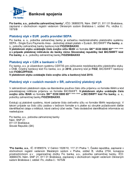 Konkrétny popis platieb SR - ČR nájdete v našom manuáli