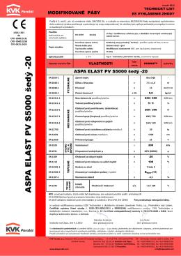 ASPA ELAST PV S5000 šedý -20