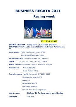 BUSINESS REGATA 2011 Racing week