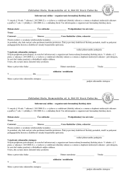 informovaný súhlas - Základná škola Komenského, Stará Ľubovňa